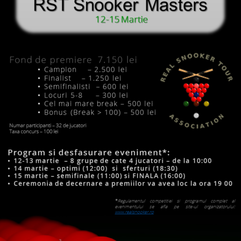 RST SNOOKER MASTERS 2015
